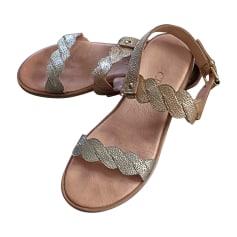 Sandales plates  CRAIE Doré, bronze, cuivre
