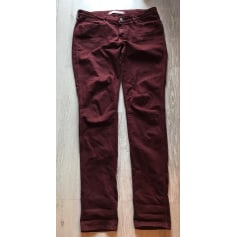 Jeans slim WRANGLER Rouge, bordeaux