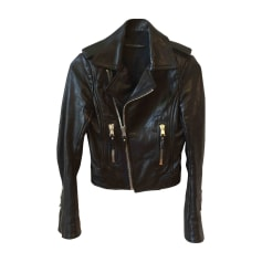 Leather Zipped Jacket BALENCIAGA Black