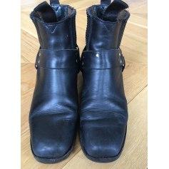 Bottines & low boots motards CHLOÉ SÉVIGNY POUR OPENING CEREMONY Noir