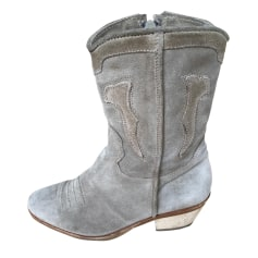 Santiags, bottines, low boots cowboy THE KOOPLES Beige, camel