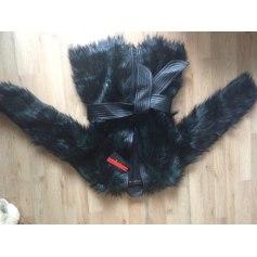 Manteau en fourrure BALMAIN X H&M Noir