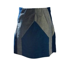 Jupe courte SANDRO Bleu, bleu marine, bleu turquoise