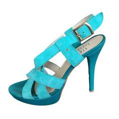 Sandales à talons APOSTROPHE Bleu, bleu marine, bleu turquoise