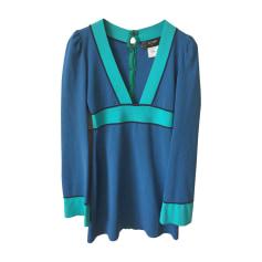 Robe courte AZZARO Bleu, bleu marine, bleu turquoise