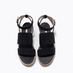 1ad1ab38cd5eda Sandales, nu-pieds Zara Femme : articles tendance - Videdressing