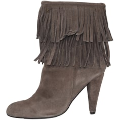 High Heel Ankle Boots ZARA Brown