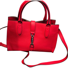 Borsa a tracolla in pelle GUCCI Jackie Rosso, bordeaux