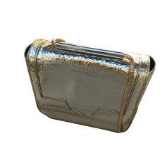 Sac à main en cuir SANDRO Doré, bronze, cuivre
