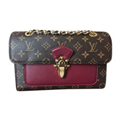 Leather Shoulder Bag LOUIS VUITTON Red, burgundy