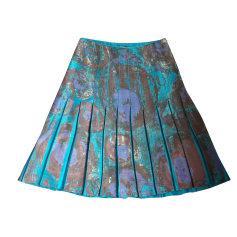 Jupe mi-longue ADOLFO DOMINGUEZ Bleu, bleu marine, bleu turquoise