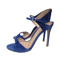 Escarpins à bouts ouverts GIANVITO ROSSI Bleu, bleu marine, bleu turquoise