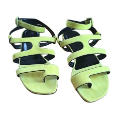 Flat Sandals HERMÈS Yellow