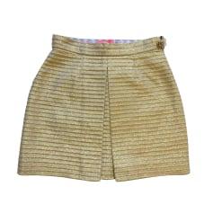Mini Skirt MANOUSH Golden, bronze, copper