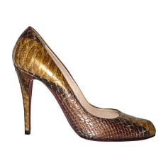 Pumps CHRISTIAN LOUBOUTIN Fifi Gold, Bronze, Kupfer