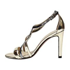 Heeled Sandals PAULE KA Silver