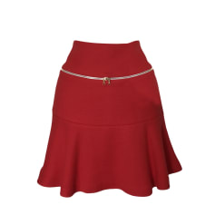 Mini Skirt SANDRO Red, burgundy
