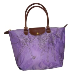 Non-Leather Handbag LONGCHAMP Purple, mauve, lavender