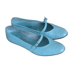 Ballerinas SALVATORE FERRAGAMO Blau, marineblau, türkisblau