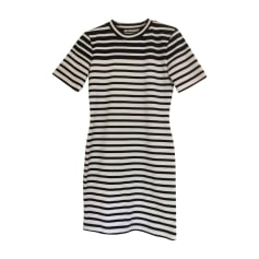 Robe courte ALEXANDER WANG Rayures Noires et Blanches