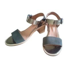 Sandales à talons ANTHOLOGY PARIS Doré, bronze, cuivre