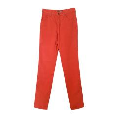 Jeans droit ARMANI JEANS Rouge, bordeaux