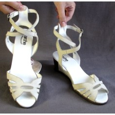 Sandales compensées ARCHE Blanc, blanc cassé, écru