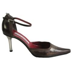 Sandales à talons LUCIANO PADOVAN denim, jean autre 36