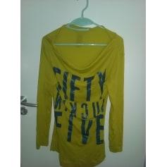 Top, tee-shirt 55DSL Vert jaune