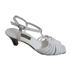 Escarpins à bouts ouverts BALLY Blanc, blanc cassé, écru