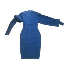 Robe mi-longue ALAÏA bleu petrole fonce