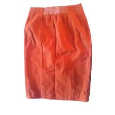 Jupe mi-longue ACNE Orange