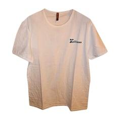 T-shirt JOHN GALLIANO Bianco, bianco sporco, ecru