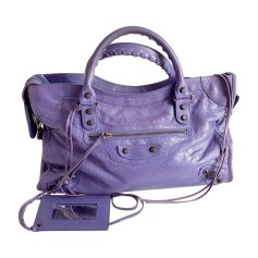 Leather Handbag BALENCIAGA City Purple, mauve, lavender
