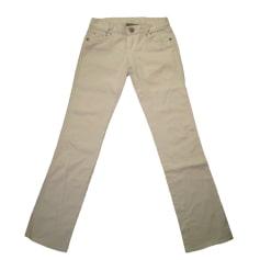 Jeans droit ARMANI EXCHANGE Blanc, blanc cassé, écru