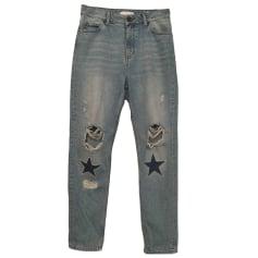 Jeans dritto SANDRO Blu, blu navy, turchese