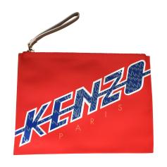 Sac pochette en cuir KENZO Rouge, bordeaux