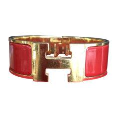 Bracelet HERMÈS Clic H Rouge, bordeaux