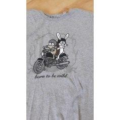 Top, tee-shirt KUKUXUMUSU Gris, anthracite