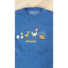 Top, tee-shirt KUKUXUMUSU Bleu, bleu marine, bleu turquoise