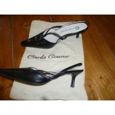 Sandales à talons CARLA GOUROV cuir noir 41 xlqrSIr