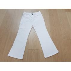 Jeans droit ARMANI JEANS Blanc, blanc cassé, écru