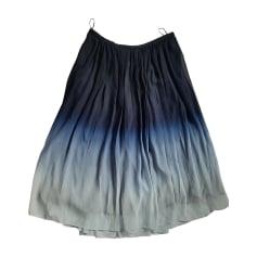 Midi-Rock BURBERRY Blau, marineblau, türkisblau