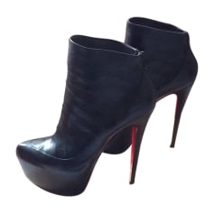 Bottines & low boots à compensés CHRISTIAN LOUBOUTIN Noir