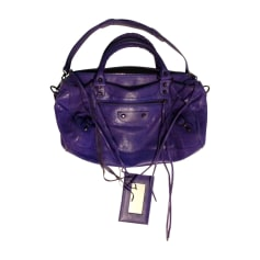 Leather Handbag BALENCIAGA Purple, mauve, lavender