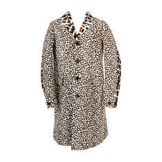 Leather Jacket BURBERRY Animal prints