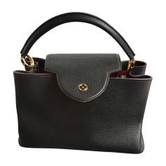 Leather Handbag LOUIS VUITTON Capucines Black