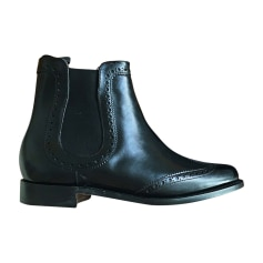 Bottines & low boots plates BARKER Noir