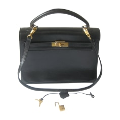 Leather Handbag HERMÈS Kelly Black