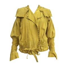 Leather Zipped Jacket JUST CAVALLI Green